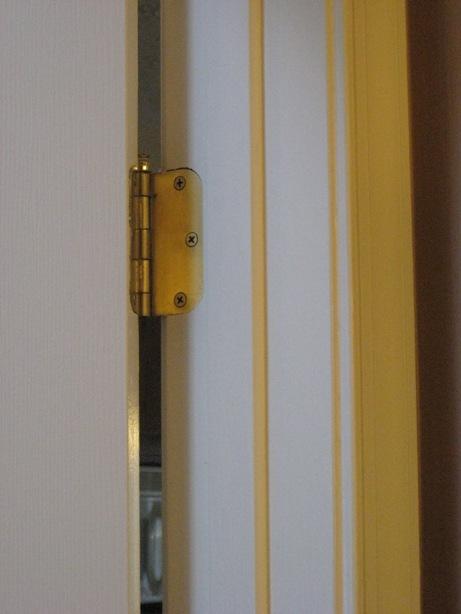 rounded radius builder grade brass hinges