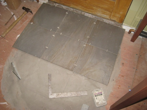 Installing A Tile Landing :: Tile Landing Leveler Working Lines And Spacers  Use Working Lines