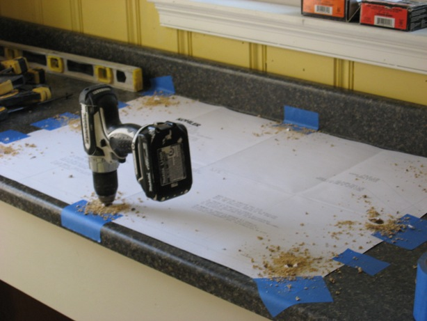 Installing A Self Rimming Sink :: When Cutting In A Postform Laminate  Countertop Drill Starter