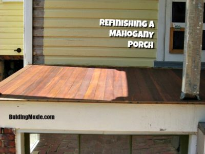 Mahogany Porch Refinished