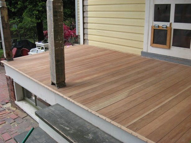 Refinishing A Mahogany Porch Sanding And Selecting The
