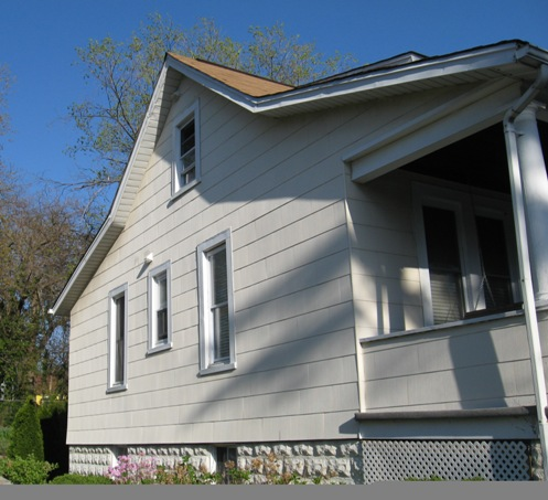 Remodeling a Bungalow :: abestos shingles used to date a home Asbestos shingles, rusticated block foundation, etc.