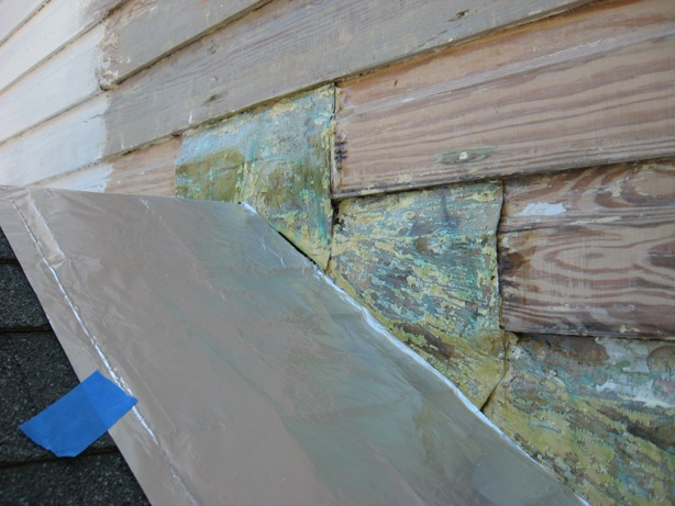 paint removal from copper :: using strippers to remove paint from copper flashing greening