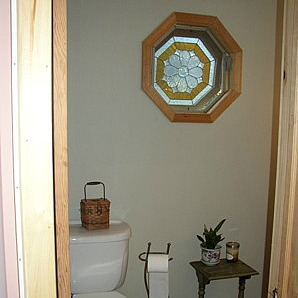 Octagon Window Half Bath
