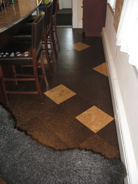 cork flooring with radiant baseboard heat