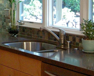 Kitchen Faucet under a Window