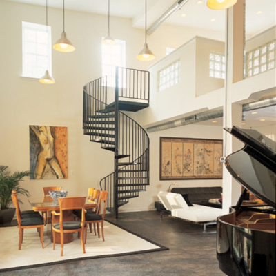 Loft Apartment with Spiral Staircase Baltimore