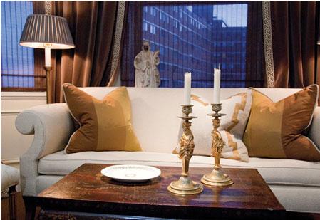 candelsticks in Jay Jenkins den image via Cal Finder/Baltimore Style