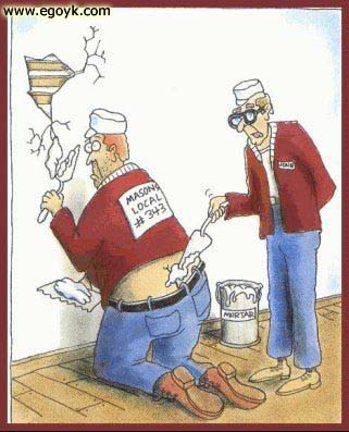 classic cartoon depicting the plumbers crack image via Alexandra Williams source: Remodel Crazy