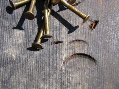 bent mishammered nails