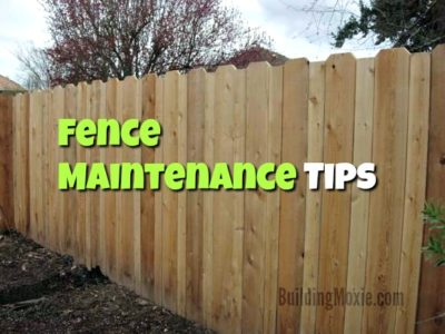 Fence Maintenance Tips