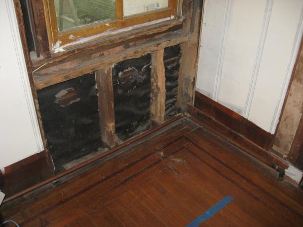 Wood Window Frame Repair :: termite damaged wood window