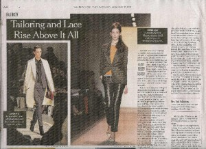New York Times Fashion page 20110212