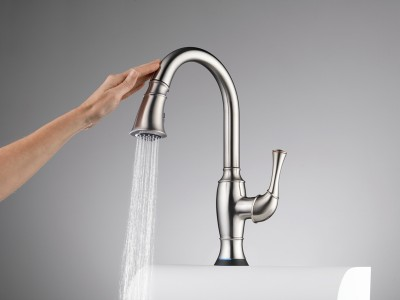 Brizo's Talo Kitchen Faucet with SmartTouch Technology