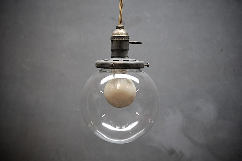 Brass Pendant Barber Shop Globe via Modern 50