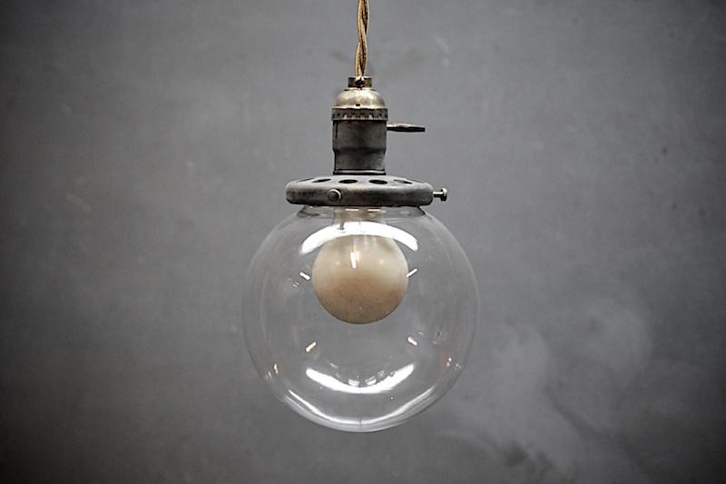 Brass Pendant Barber Shop Globe via Modern 50