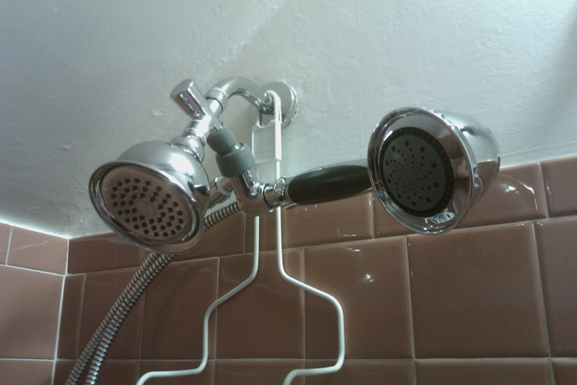 Danze Victorian 1.5 gpm showerhead and conventional hand-held