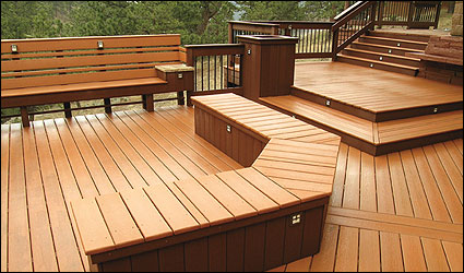 CorrectDeck CX decking large deck with bench