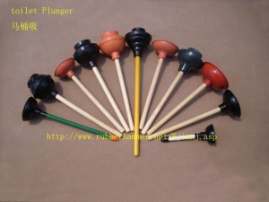 An Array of Plungers in a Colorful Fan