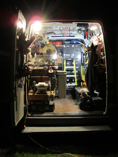 Sprinter Work Van Under Light by Barry Morgan