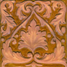 Hand painted ceramic tile - Capuchinas Relief Deco