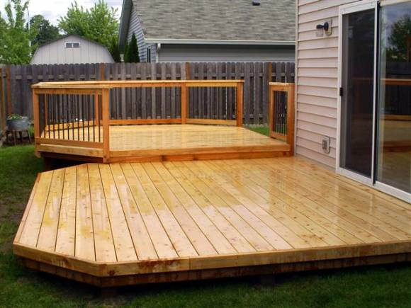 Low Rise Cedar Deck Recently Spring Cleaned image via Ricks Fencing