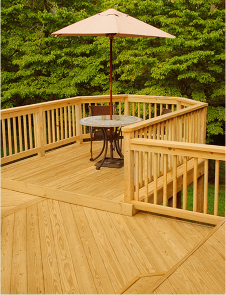 TimberSIL Wooden Decking Large Deck with Alcove