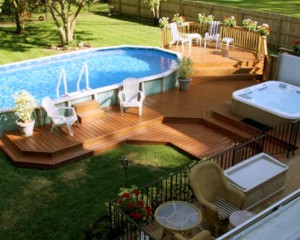 Above Ground Pool - PorchDeck image via Jesse Langley