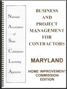 Business and Project Management for Contractors Maryland
