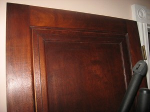 birch veneered coffered door