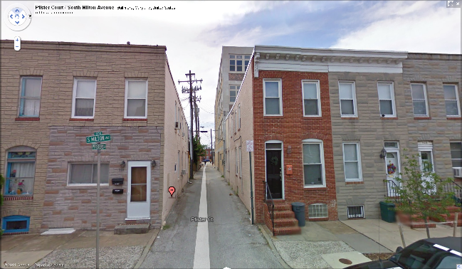 Formstone on Some Baltimore Rowhomes