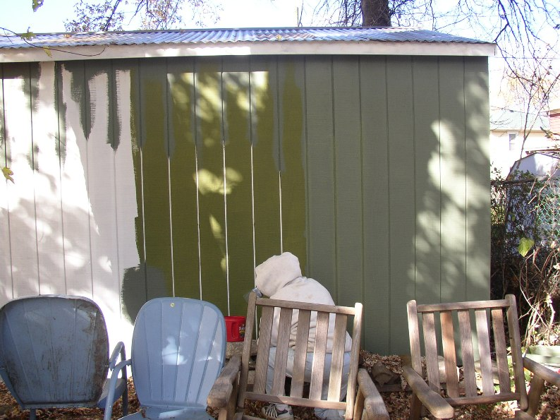 For exterior painting test painting colors on a shed - Test exterior paint colors online ...