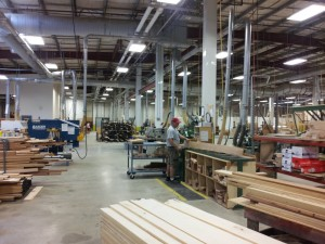 Crown Point Cabinetry factory via Building Blox