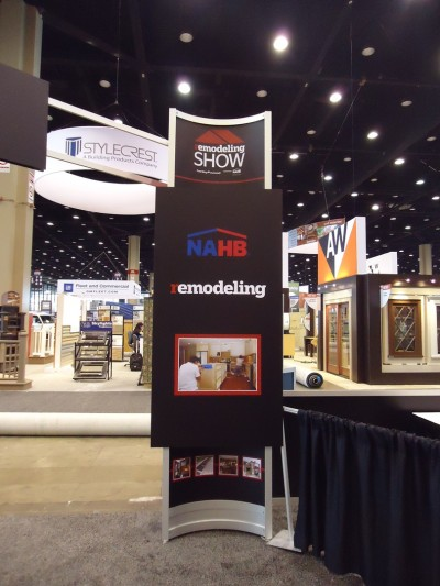 Hanley Wood & NAHB-sponsored Remodeling Show sign