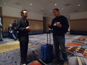 Paul Treanor with Unidentified Attendee