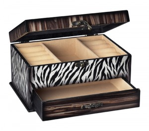Zebra Print Jewelry Box via PBDHomeStore