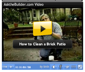 How to Clean a Brick Patio video capture with Tim Carter Ask the Builder