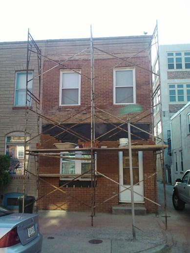 Build of Facade in Progress