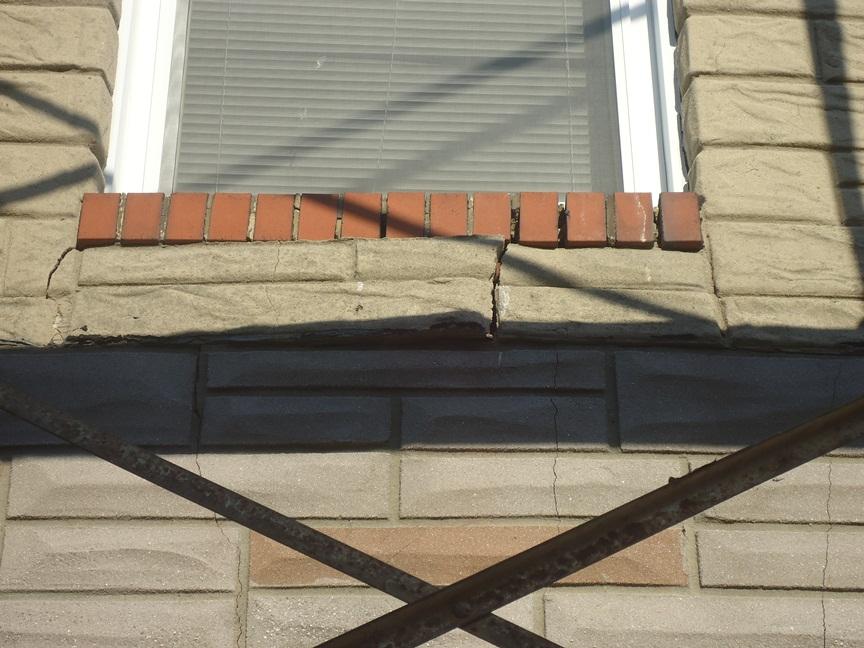 Formstone Crumbling Under Window