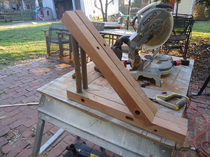 Laying out Planed Teak for Conversion to a Set of Shelf Brackets
