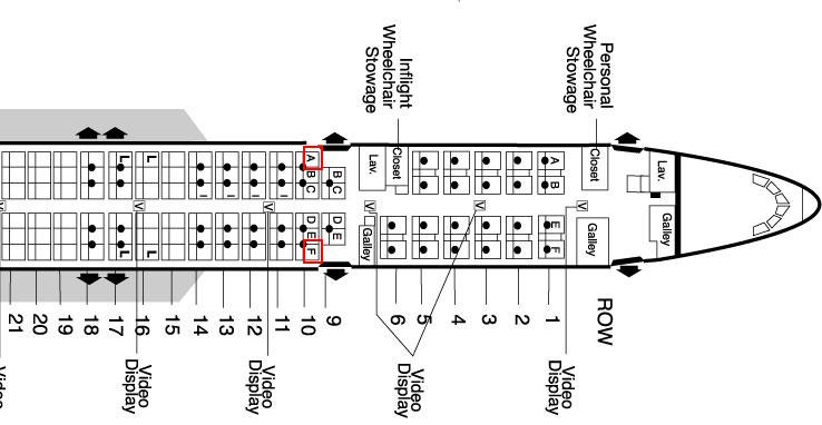 airplane seating secrets :: 757 seating chart