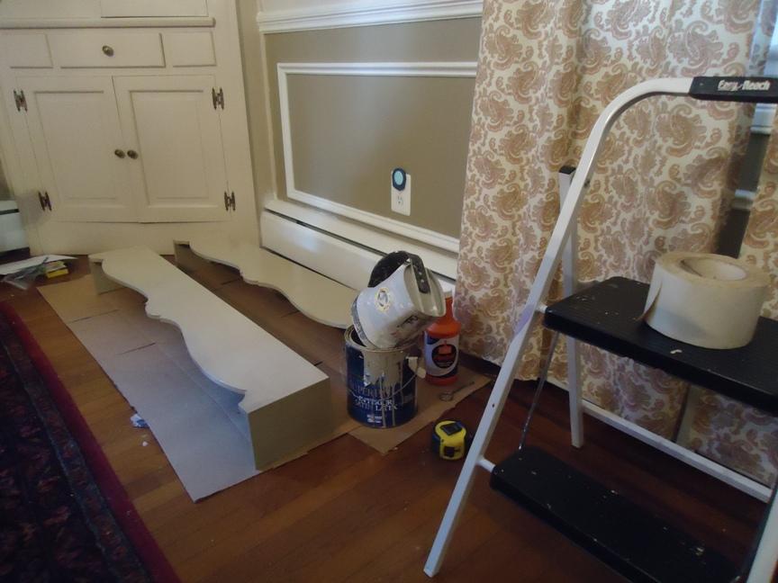 Painting Wood Curtain Valances Dining Room