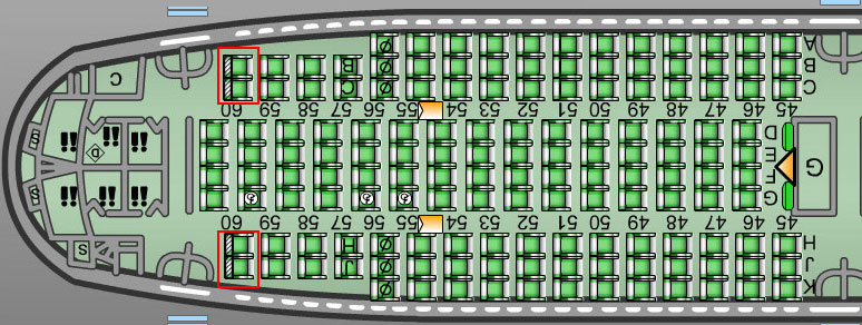 airplane seating secrets :: 747 seating chart