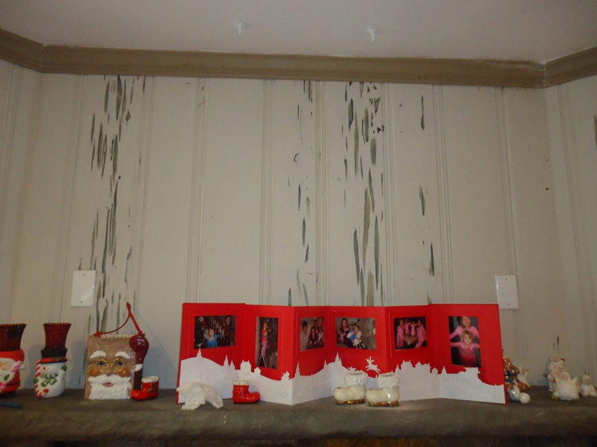 Christmas Decorations on a Mantle