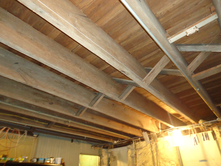 Basement Ceiling Old House with Cross Braces