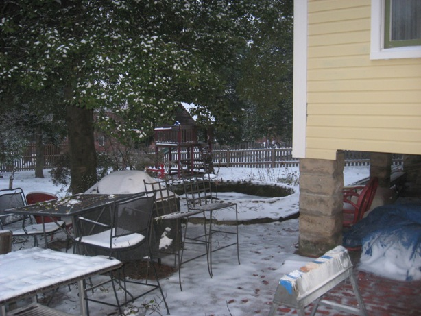 Snowy Backyard Makes a Good Time for Inside Work