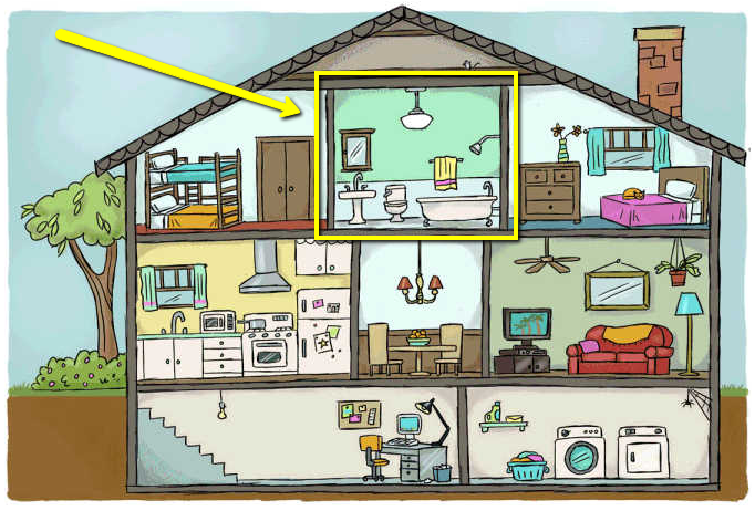 Cartoon Interior with Bathroom Highlighted image via Floors For Your Home
