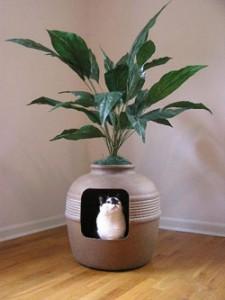 pet friendly home ideas :: Hidden Litter Planter