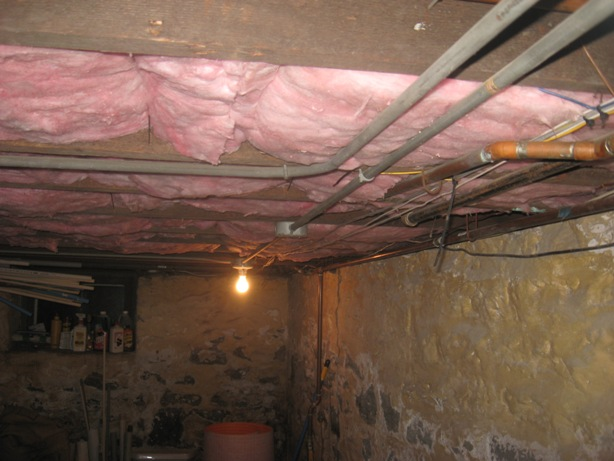 Insulated Basement Ceiling Surface Mounted Electrical