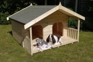 pet friendly home ideas :: Large Double Dog House